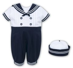 Navy and White Sailor Set