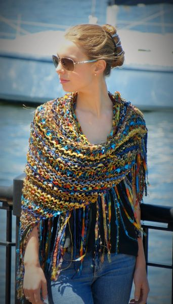 Cooper Blue Green Signature Shawl