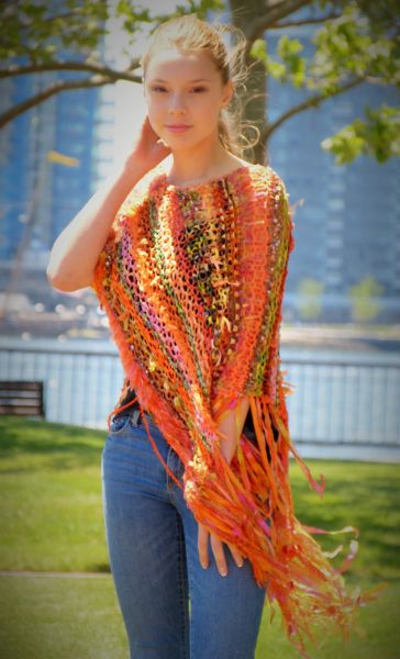 Orange Signature Poncho