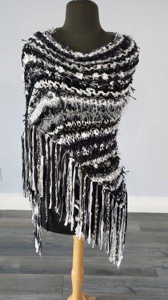 Black and White Signature Shawl