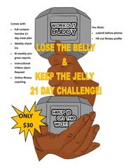 LOSE THE BELLY & KEEP THE JELLY 21-DAY CHALLENGE