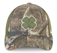Black Clover Hunt Lucky #6 Stretch Fit Hat-Camo