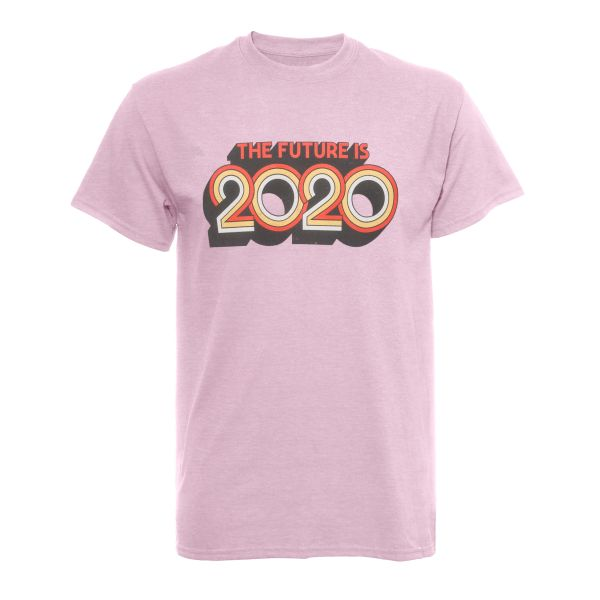 The future is 2020 (purplish pink)