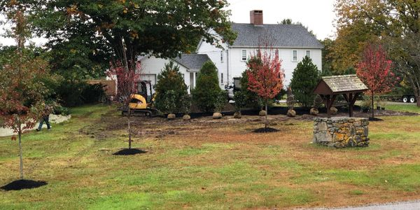 Residential landscape project in Maine