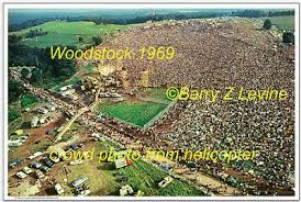 COLOR POSTER 12X18: Woodstock '69 CROWD aerial Barry Z Levine