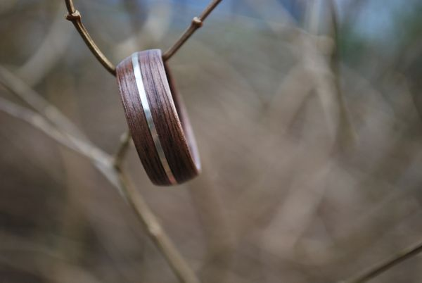 Black Walnut Sterling Silver Inlay