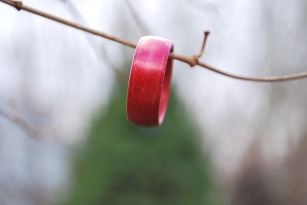 Red Birchwood Bentwood Ring