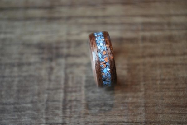 Black Walnut Steel Blue Inlay