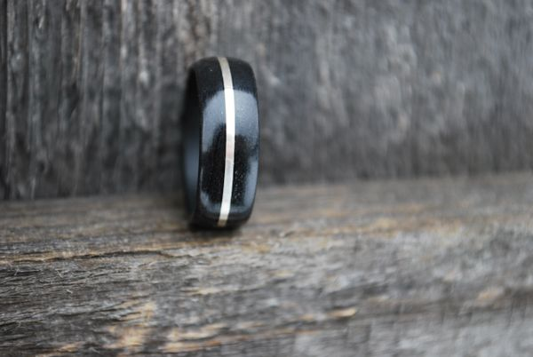 Black Birchwood Silver Inlay