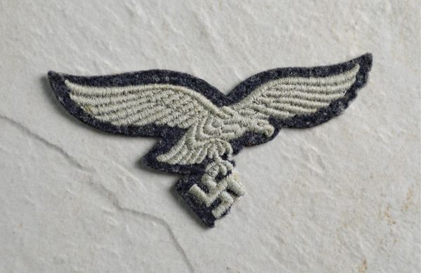 MACHINE EMBROIDERED SECOND PATTERN LUFTWAFFE EAGLE **SOLD**