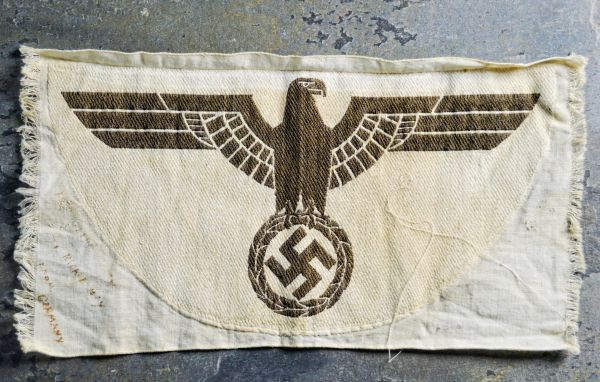 WWII U.S.VET PERSONALIZED THIRD REICH ARMY SPORTS SHIRT INSIGNIA