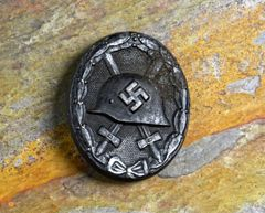 WWII GERMAN WOUND BADGE IN BLACK**SOLD**