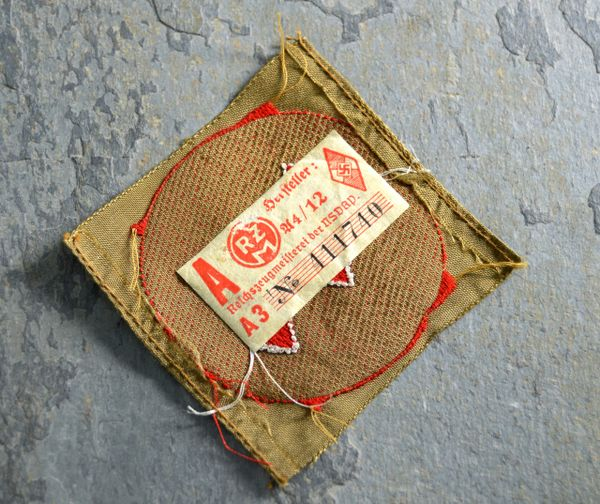 Hitler Youth Sieg Rune Patch with RZM Tag and Period Photo **SOLD**