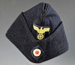 WWII GERMAN KRIEGSMARINE NCO OVERSEAS CAP MADE IN PARIS FRANCE **SOLD**