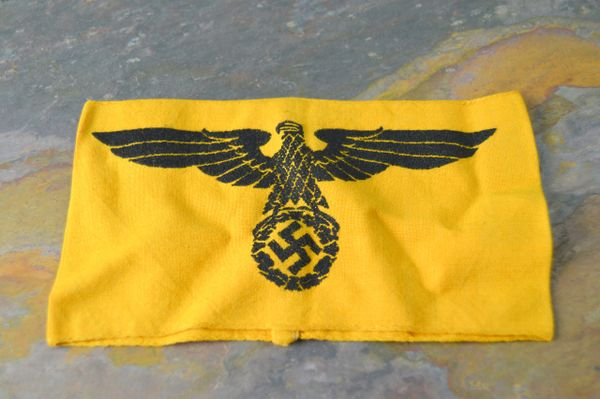 Non Members of the Armed Forces (Nicht-Wehrmachtangehörige) Black Eagle Armband in Bevo **SOLD**