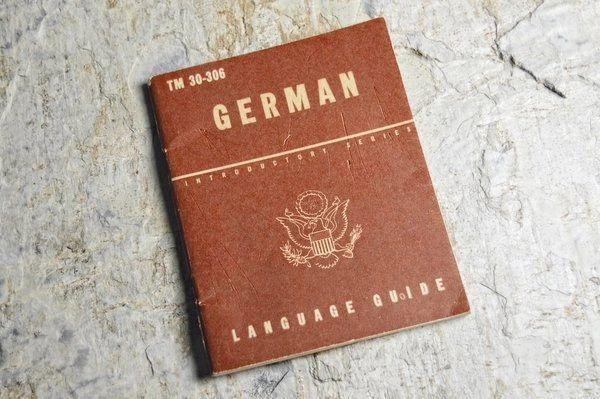 WWII U.S. LANGUAGE GUIDE TM 30-306 GERMAN **SOLD**