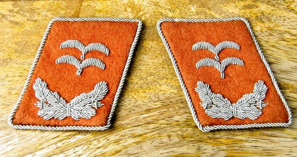 Luftwaffe Signals Oberleutnant Collar Tabs