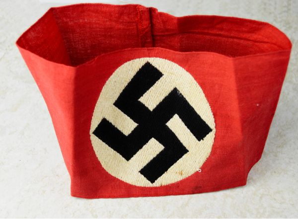 Unusual Embroidered NSDAP Members Armband **SOLD**