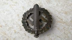 Third Reich Type II S.A. Sports Badge In Bronze**SOLD**