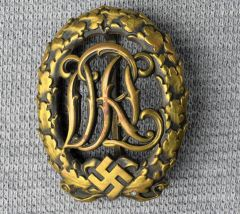 Third Reich DRL Sports Badge In Bronze**SOLD**