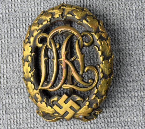 Third Reich DRL Sports Badge In Bronze**SOLD**