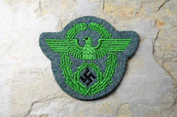**SOLD**Machine Embroidered Third Reich Police Schutzpolizei Sleeve Eagle