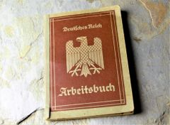 Interesting Third Reich Arbeitsbuch with Entries and Stampings