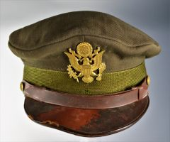 "Well Worn USAAF Officers ""Crusher""Cap"