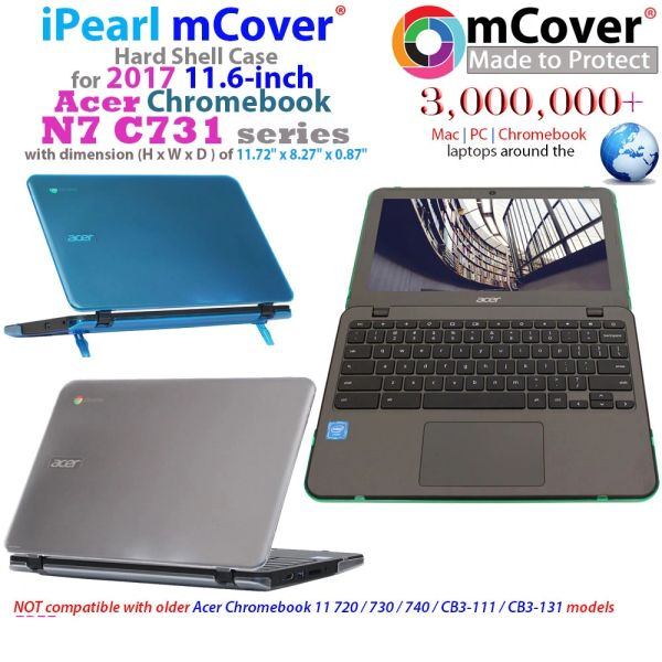 """mCover Hard Shell Case for 11.6"""" Acer N7 C731 series ChromeBook Laptop"""
