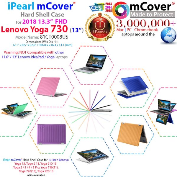 mCover Hard Shell Case for Lenovo YOGA 730 PRO 13.3-inch Convertible Touchscreen Notebook (**Not compatible with ANY Yoga 13.3 inch model **)
