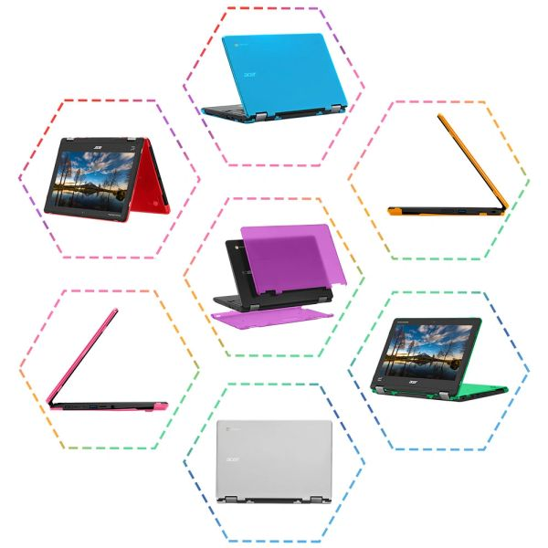 """mCover Hard Shell Case for 2019 11.6"""" Acer Chromebook Spin 311 / C721 / Spin R721 Series"""