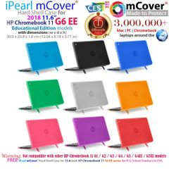 "mCover Hard Shell Case for 11.6"" HP Chromebook 11 G6 EE laptops (NOT compatible with pre-2018 HP C11 G4EE/G5EE)"