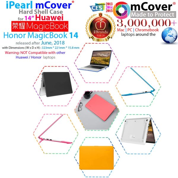 mCover Hard Shell Case only for 14-Inch 2019 Huawei 14-Inch MateBook D (Not for 2020 14 Matebook D)