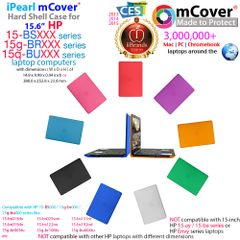 "mCover Hard Shell Case for 15.6"" HP 15-bsXXX (15-bs000 to 15-bs999) Series or HP 15g-brXXX or HP 15q-buXXX Series (NOT Fitting 15"" Pavilion or Envy laptops) Notebook PC"