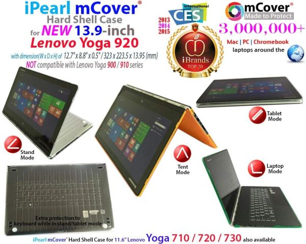 "mCover Hard Shell Case for 13.9"" Lenovo Yoga 920 (NOT Fitting Yoga 900/910) multimode Laptop Computer"