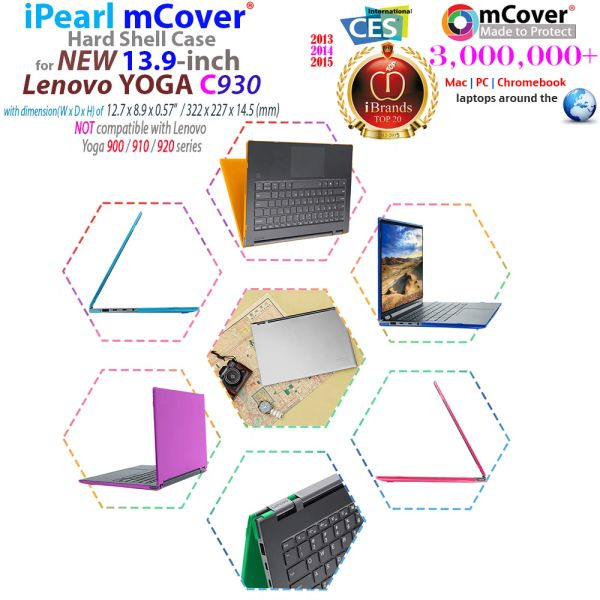 "mCover Hard Shell Case for 13.9"" Lenovo Yoga 930C (NOT Fitting 13.9"" Yoga 920 / 900 /910 ) multimode Laptop Computer"