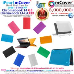 "mCover Hard Shell Case for 14"" HP Chromebook 14 G5 / 14-CA / 14-DB Series laptops ( HP 14-ca050sa etc) size (337 x 227 x 1.8 mm) ( (NOT Compatible with Older HP C14 G1 / G2 / G3 / G4 Series)"