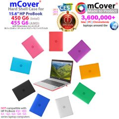 "mCover Hard Shell Case for 2019 15.6"" HP ProBook 450/455 G6 Series (NOT Compatible with Older HP ProBook 450/455 G1 / G2 / G3 / G4 / G5 Series) Notebook PC"