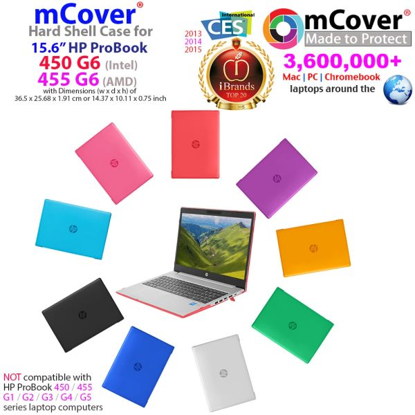 "mCover Hard Shell Case for 2019 15.6"" HP ProBook 450/455 G7/G6 Series (NOT Compatible with Older HP ProBook 450/455 G1 / G2 / G3 / G4 / G5 Series) Notebook PC"