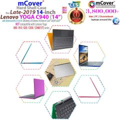 "mCover Hard Shell Case for Late-2019 14"" Lenovo Yoga C940 Series (NOT Fitting Older Yoga 900/910 / 920 / C930) multimode Laptop Computer"