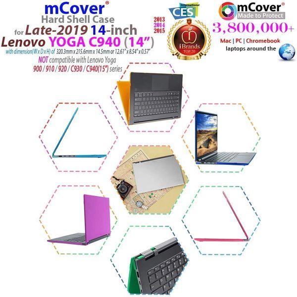 "mCover Hard Shell Case for Late-2019 14"" Lenovo Yoga C940 Series (NOT Fitting Older Yoga 900/910 / 920 / C930) multimode Laptop Computer"