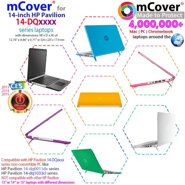 "mCover Hard Shell Case for 14"" HP Pavilion / Notebook 14-dq / 14s-dq Series laptops (Not compatible with ANY other HP 14"")"