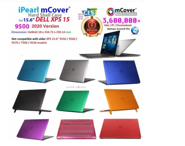 "mCover HARD Shell CASE for 2020 15.6"" Dell XPS 15 9500 series (released in 2020) Laptop Computer"