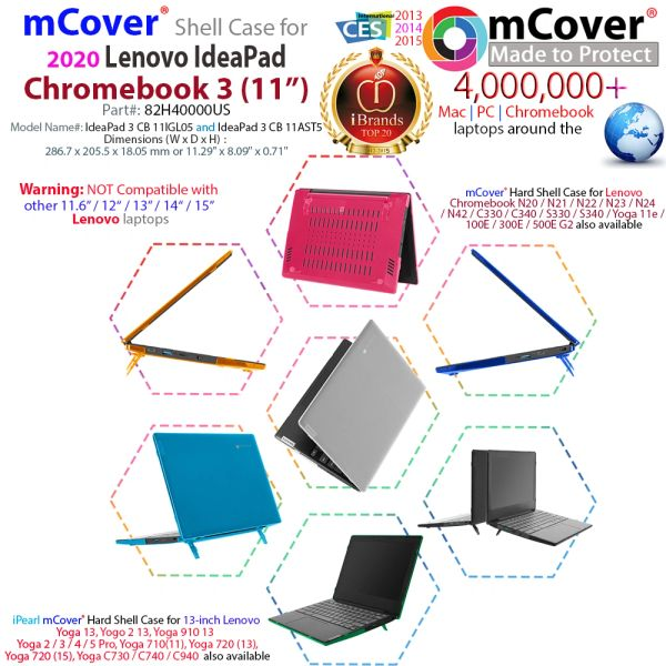 mCover Hard Shell Case for 11.6 2020 IdeaPad Chromebook 3 laptop