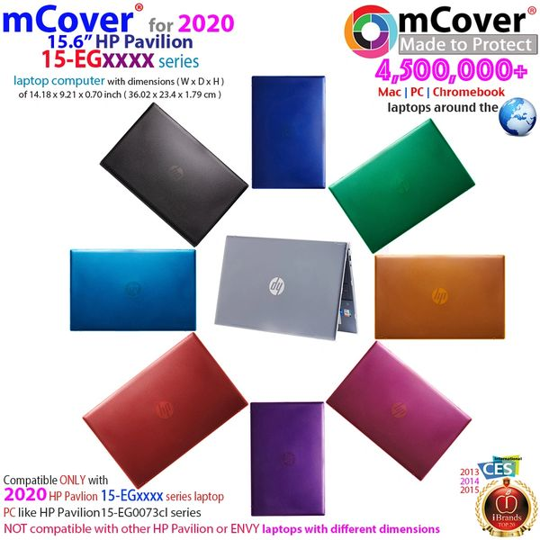 """mCover Hard Shell Case for 15.6"""" HP Pavilion 15-EGxxxx Series (Size 360.2 x 234 x17.9 mm) Laptop"""
