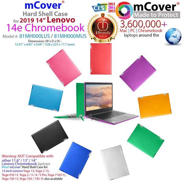 """mCover Hard Shell Case for 2019 14"""" Lenovo 14e Series Chromebook Laptop (NOT Fitting Older 14"""" Lenovo N42 / S330 and 11.6"""" N22 / N23 / N24, etc Chromebook)"""