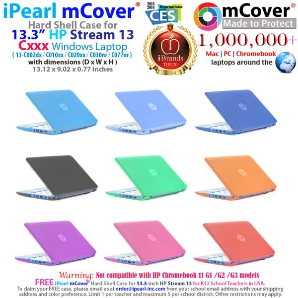 "mmCover Hard Shell Case for 13.3"" HP Stream 13 Cxxx series Windows laptops"