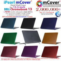 "mCover Hard Shell Case for 13.3"" Dell Chromebook 13 7310 series Laptop released after Oct. 2015"