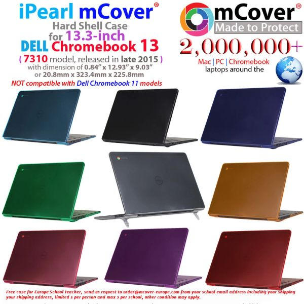 """mCover Hard Shell Case for 13.3"""" Dell Chromebook 13 7310 series Laptop released after Oct. 2015"""