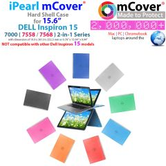 "mCover Hard Shell Case for 15.6"" Dell Inspiron 15 7558 / 7568 2-in-1 Convertible Laptop Computer"